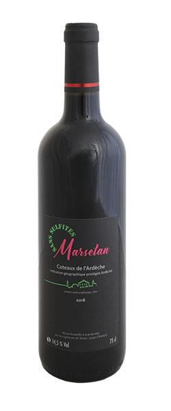 igp côteaux d'ardèche marselan sans sulfites médaillé d'argent concours des vins foire Avignon 2019