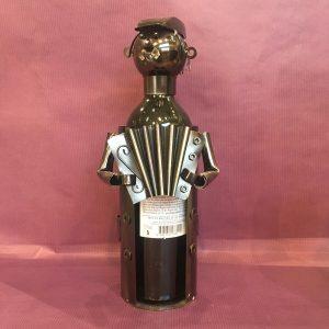 CB accordeon rotated - Cache bouteille métal accordéoniste