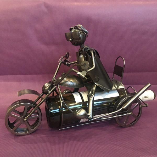 CB moto rotated - Cache bouteille métal motard