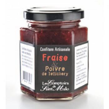 confiture fraise - Confiture de fraise au poivre de Tellichery 220 gr