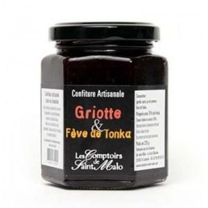 confiture griottes - Confiture griotte fève Tonka 220 gr