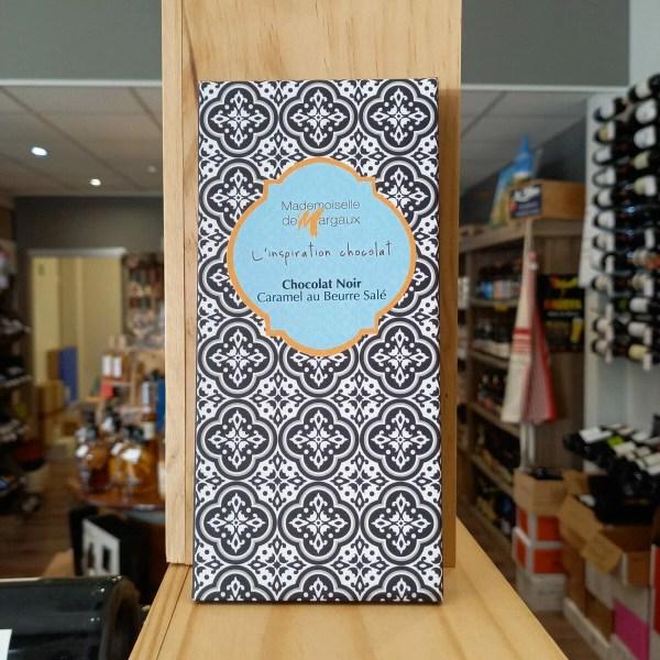 TABLETTE NOIR CARAMEL rotated - Mademoiselle de Margaux - Chocolat noir 71% caramel au beurre salé 100gr