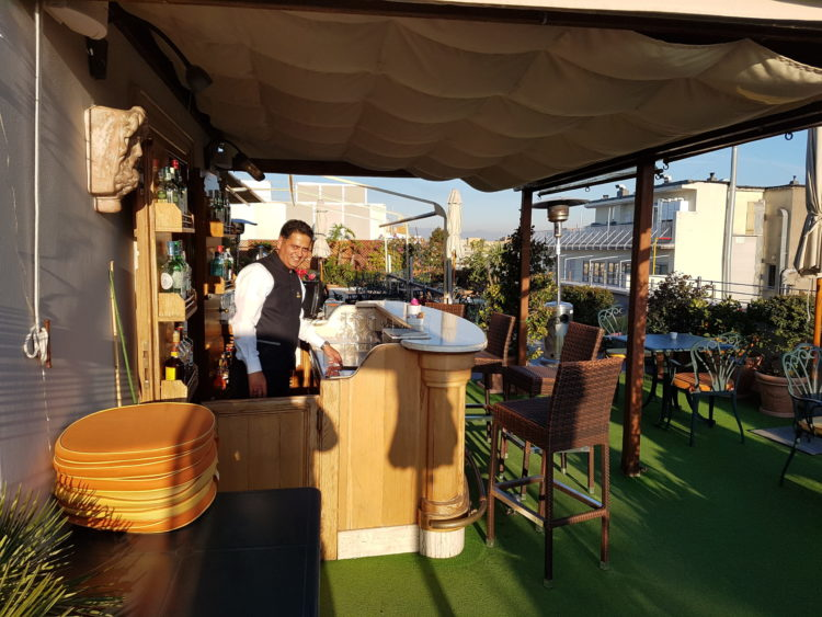 Roof top terrace Marcella Royal Hotel