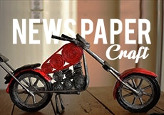 Newspaper craft classes for kids