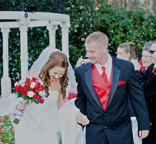 Recessional from the Cavender Castle Gazebo - Dahlonega Wedding Venue
