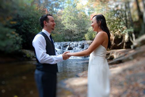 Dick's Creek Waterfall Wedding site