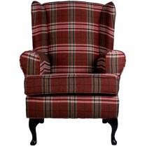 red tartan chair
