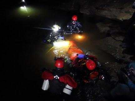 ECRA cave rescue diving exercise