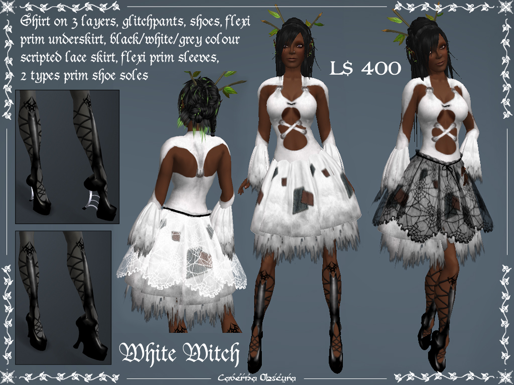 White Witch Outfit by Caverna Obscura