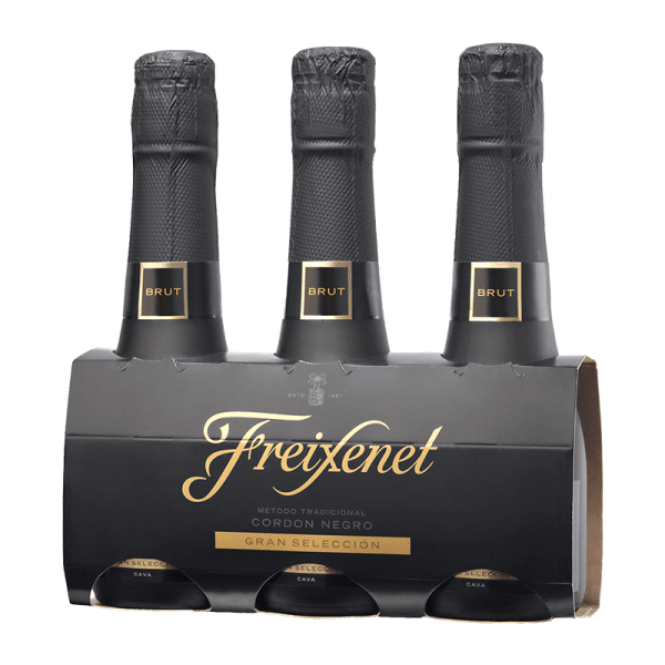 Freixenet Mini Cordon Negro Pack 3