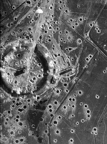 Photo WWII bomb craters at Peenemunde  Cave News
