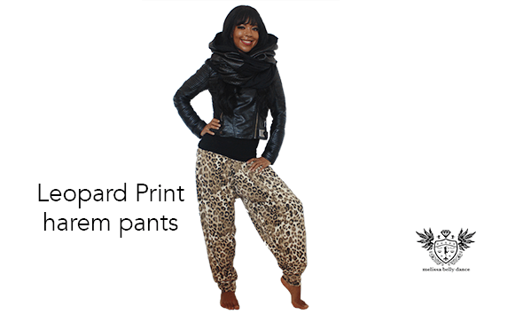 LEOPARD PRINT Designer HAREM PANTS full