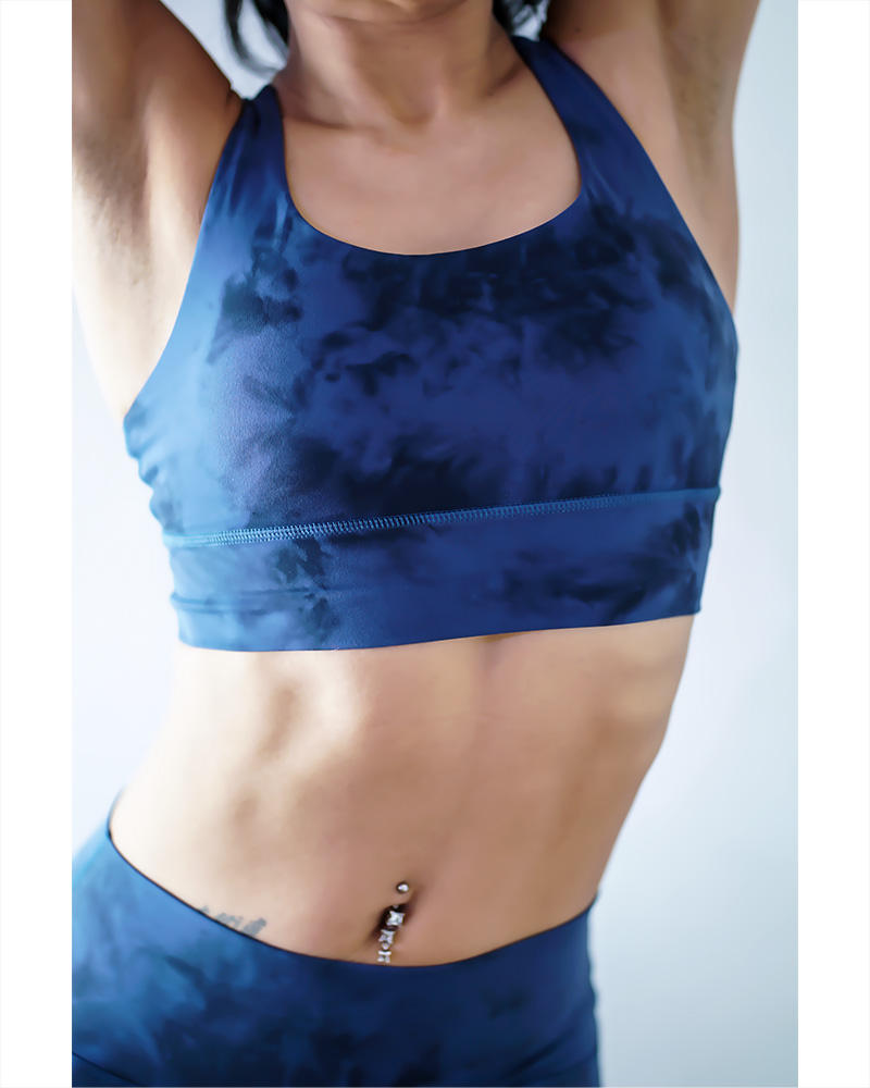 CAVICEA MOON ROCK SPORTS BRA TOP BLUE
