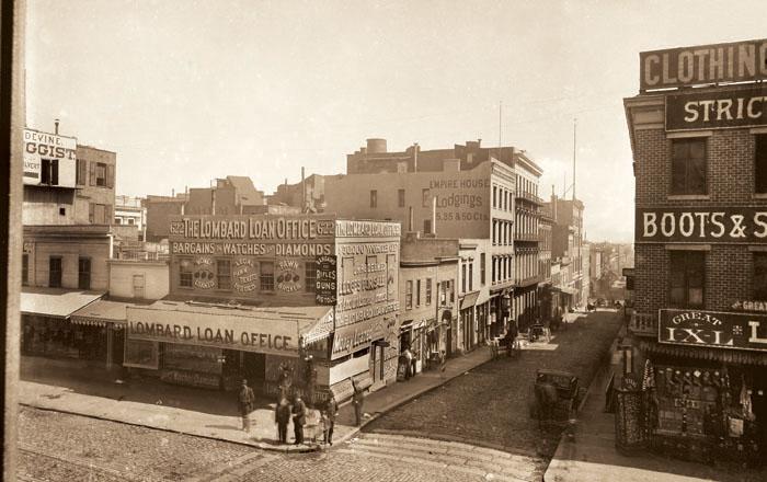 photo of Early San Francisco, Circa 1880, Copyright©2004 California Views phone 831-373-3811