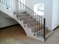 Stair Railing Simple Design | Cavitetrail, Glass Railings ...