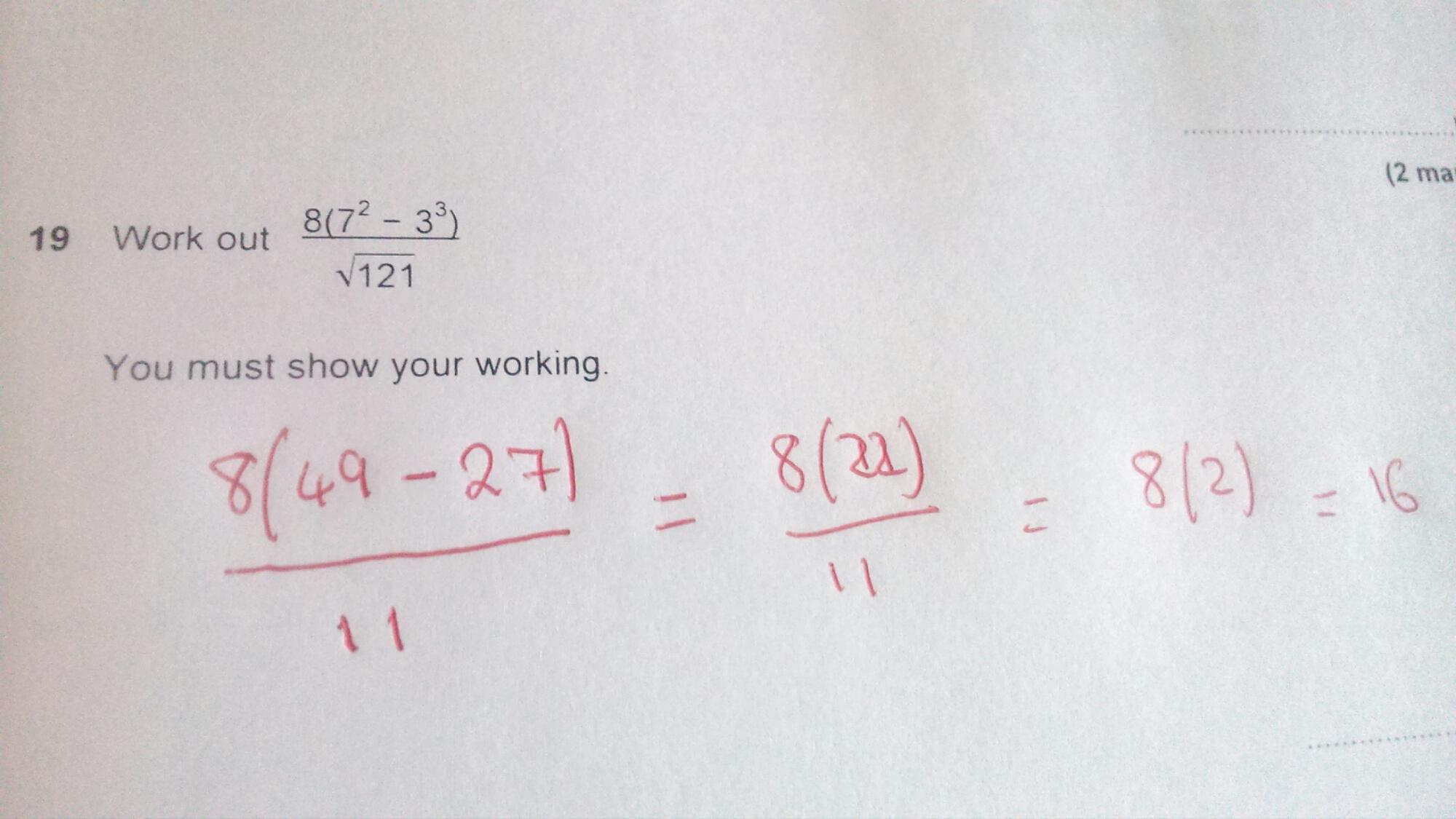 Gcse Maths Non Calculator Topics Edexcel