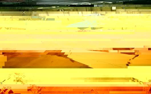 Vista traseira da SpaceShip Two