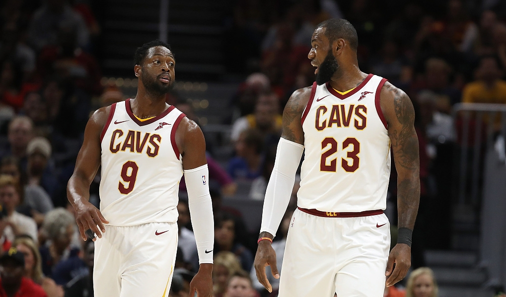 Image result for lebron james and dwyane wade cavs