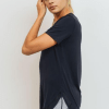 No-Sew Cool-Touch Mesh Panel Athleisure Shirt - Side Black