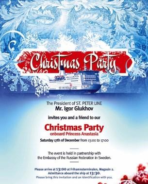 Inbjudan julfest med St. Peter Line