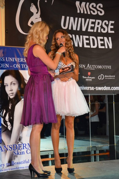 intervjuv innan finalen med Hanna