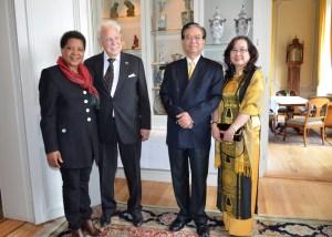 Diplomatisk uppvaktning av Sydafrikas Ambassadör Faiht Radebe och Vietnams Ambassadör Tran Van Hinh and Mrs Doan Minh Tuyen.