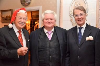 Glada herrar i adventstid. Tomten Gösta, Sonny Wallentin och Erik Alexander Carlenstolpe.
