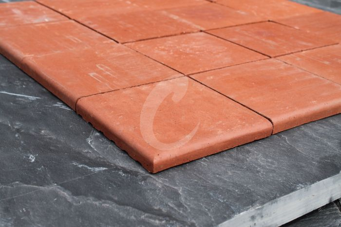 new red quarry tiles double bullnose 6x6