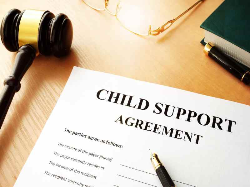 child support agreement with judge ballot