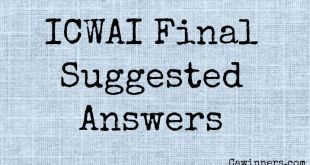 ICWAI Final Suggested Answers From Dec 2016 to Dec 2011