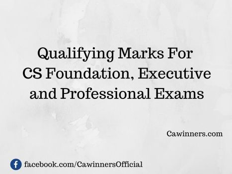 Qualifying Marks For CS Exams