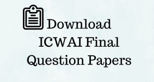 CMA Final Question Papers Dec 2016 to June 2013