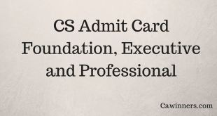 CS Admit Card Dec 2017 Executive Professional