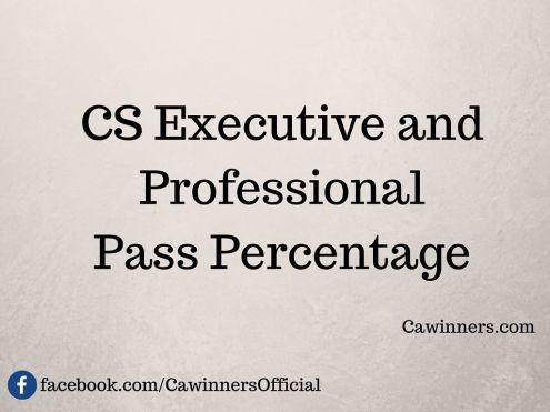 CS Pass Percentage June 2015 Executive Professional