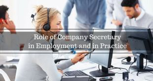 Role of Company Secretary in Employment and in Practice