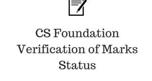 CS Foundation Verification of Marks Status Dec 2015