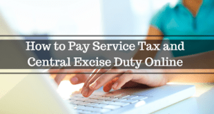 How to Pay Service Tax and Central Excise Duty Online