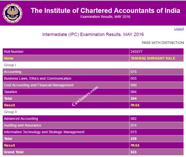 IPCC May 2016 Topper - 1