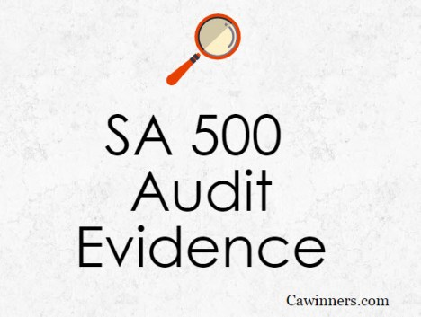 Standard On Auditing SA 500 Audit Evidence Summary Notes PDF