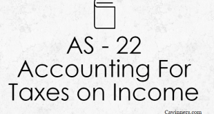 AS 22 Accounting For Taxes on Income | Deferred Tax