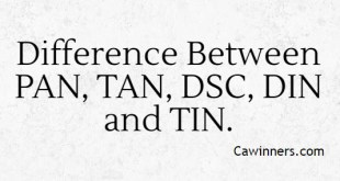 Check the Difference Between PAN, TAN, DSC, DIN and TIN.