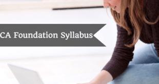 CA Foundation Syllabus