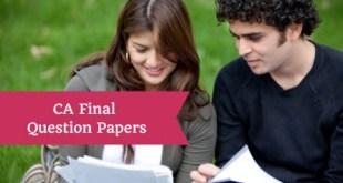 CA Final Question Papers Nov 2017