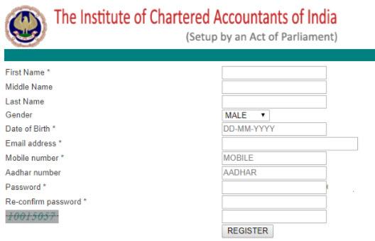 CA Foundation Registration Online