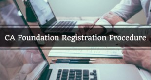 CA Foundation Registration For May 2018 and Nov 2018