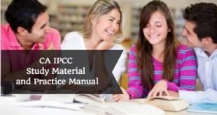 CA IPCC Study Material and Practice Manual
