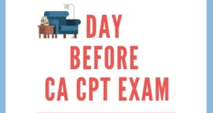 Things to do on the Day before CA CPT exam
