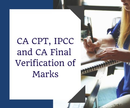 CA CPT IPCC and CA Final Verification of Marks