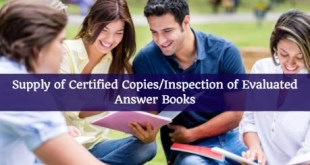 Supply of Certified Copies or Inspection of Evaluated Answer Books CAI PCC and CA Final