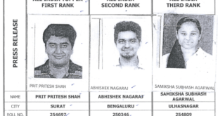 CA Final Toppers May 2018 (New Syllabus)